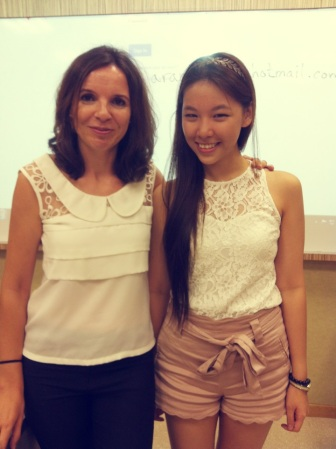 With my Spanish teacher :)