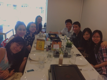 1/2 of the group - Clockwise from bottom left: Xiaoqing, Yuchan, Adelene, Junhua, Mengkian, Zhiyong, Siawshi and Yushan.