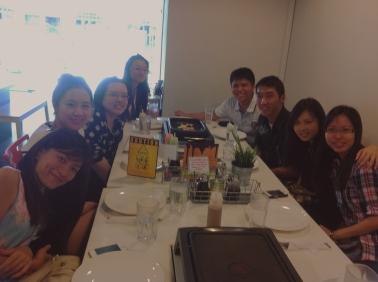 1/2 of the group - Clockwise from bottom left: Xiaoqing, Yuchan, Adelene, Junhua, Mengkian, Zhiyong, Siawshi and Yushan.