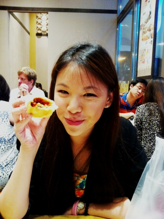 Food makes me happy! Me with my favourite from the menu :D
