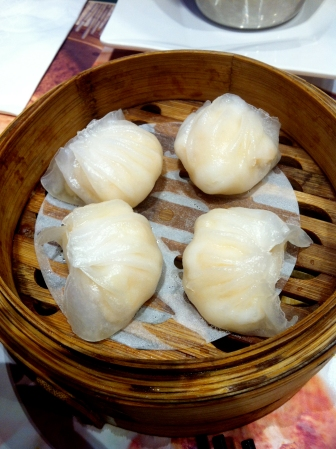 Har gao (prawn dumpling) - nice but there's nothing really special or different about this. Just another har gao in my opinion. Of course there were people who really loved it!