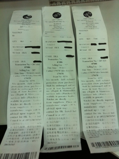 Why are the reference and transaction numbers for all receipts the same? Even if they were bought at the same time, all transactions should be on one receipt, no??