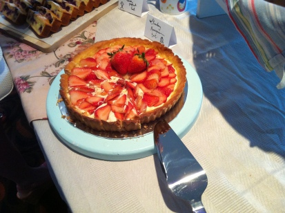 Strawberry Mascarpone Tart - unable to try this cos I was full from my Mr Bean pancake breakfast -_-