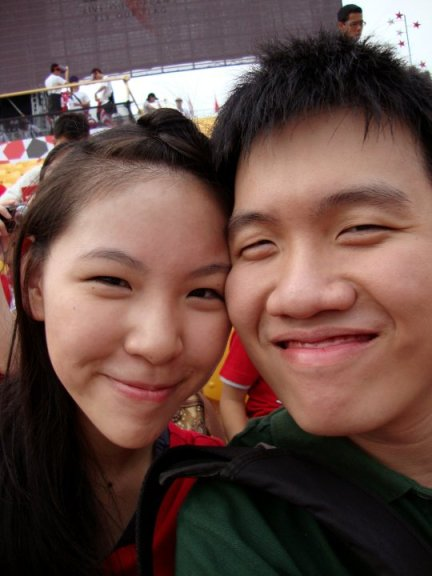 (2010) Our first NDP parade together but sadly it was only preview and.. he didn't get the tickets for free. He paid for them because I wanted to go. :')