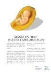 Fruit advertisement (mango) to promote a healthy pregnancy. A school assignment (2014)