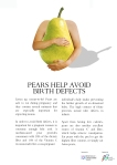 Fruit advertisement (pear) to promote a healthy pregnancy. A school assignment (2014)