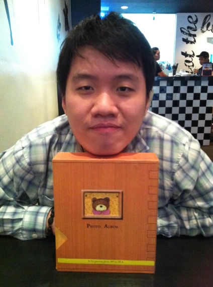 Bf and his 4th year anniversary gift - a photo album of 90 photographs taken from 2009 - 2013 :)