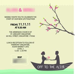 Church Wedding Invitation Card (2011)