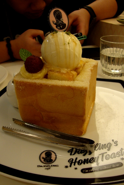 Our classic honey toast! I spent close to 5 minutes photographing this.. Ice cream melting already