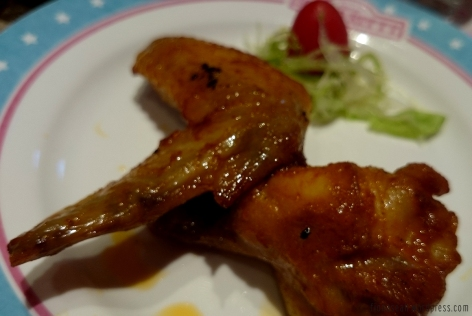 Chicken wings.. tasted like the ones Pizza Hut