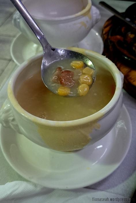 Corn soup!