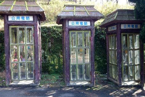 Vintage-looking telephone booth