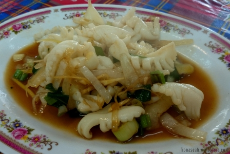 Squid with vegetables