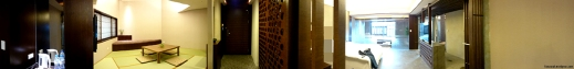 Panoramic view of the beautiful room