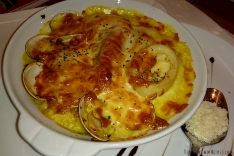 Seafood Baked Rice in Italian Style