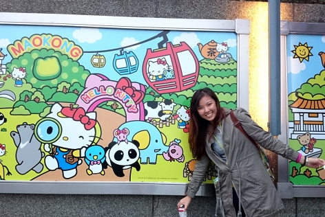 Maokong literally means empty (no) cats.. Perfect excuse to use Hello Kitty as a mascot.