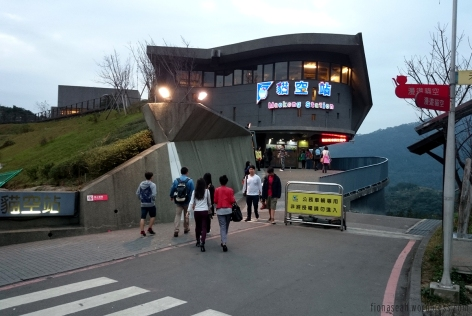 Coming out from the cable car station