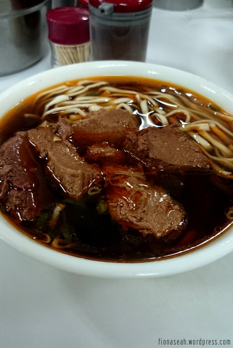 Spicy beef noodles! Just by looking at the colour of the soup is enough to sting your tongue LOL