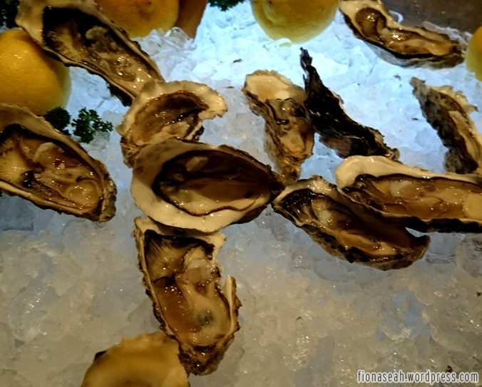 Oysters from the seafood row