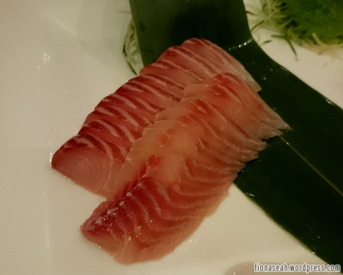Sashimi. Not sure what kind. It could be tuna.