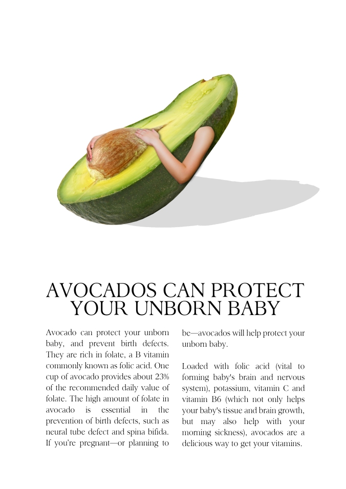 A random assignment for any fruits I picked avocado.