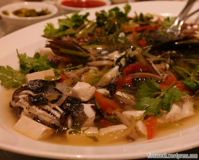 Steamed Live Marble Goby (Soon Hock) Teochew Style