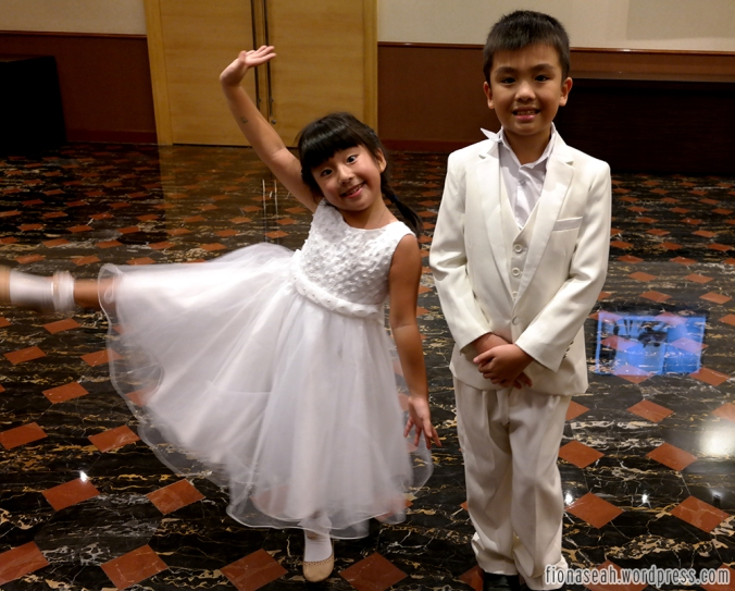 Flower girl and boy who happen to be the cutest siblings.