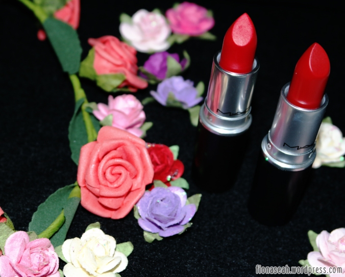 MAC Ruby Woo (left) and Russian Red (right)
