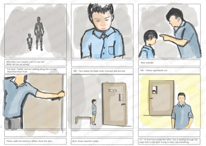 Storyboard for Health Promotion Board. To view the rest, please view my portfolio! :)
