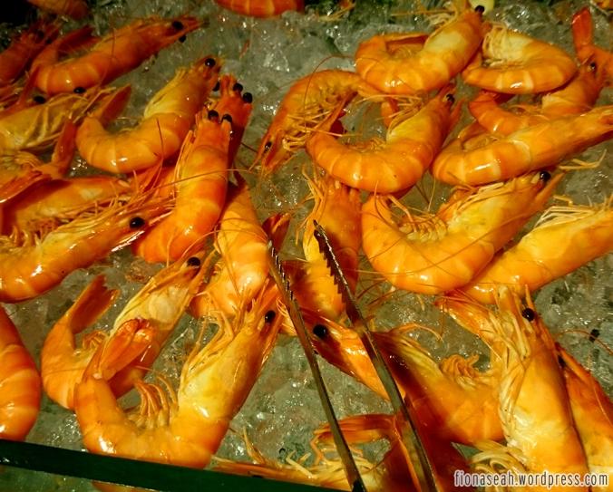 Prawns also found at the sushi corner