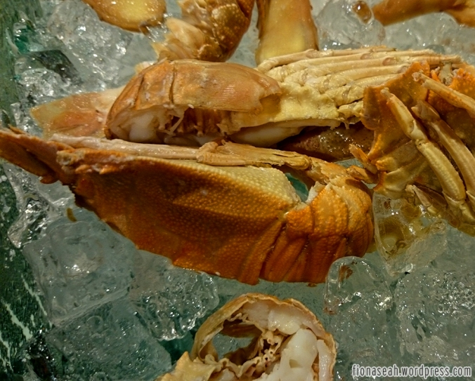 Crayfish also at sushi corner