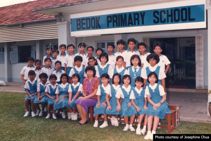 Bedok Girls' - class P6 of 1987