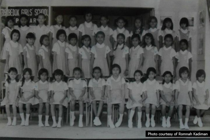 Bedok Girls' - class P4A of 1975