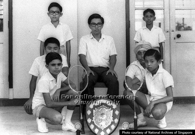 Haig Boys' badminton team in 1968