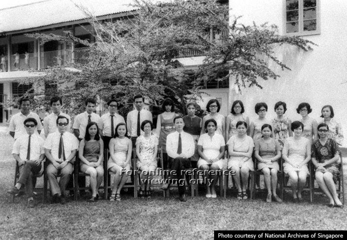 Haig Boys' school staff in 1968
