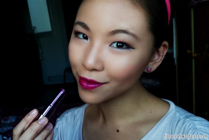 Love UD's Revolution lipstick line - very moisturising yet long-lasting. Venom is a deep fuchsia shimmer with blue undertone.