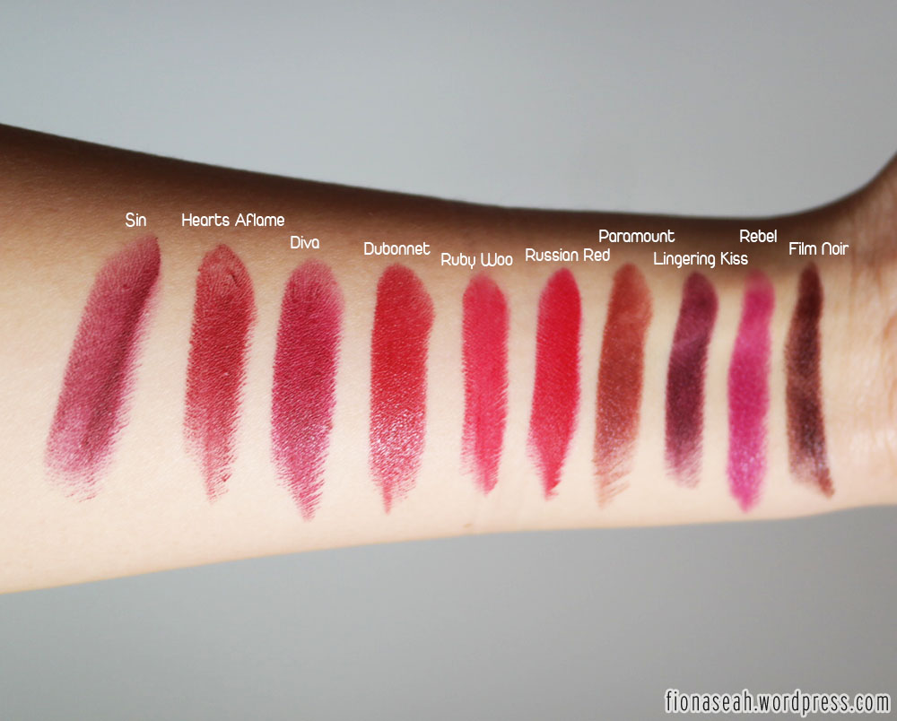 mac rebel romance lipstick swatches