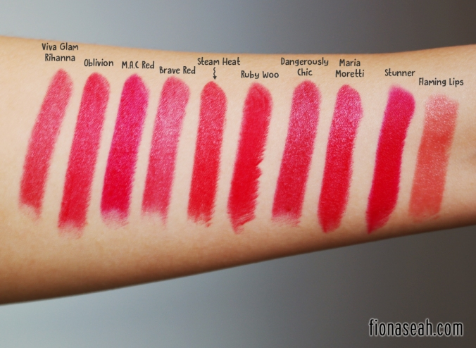 Steam Heat swatch comparison