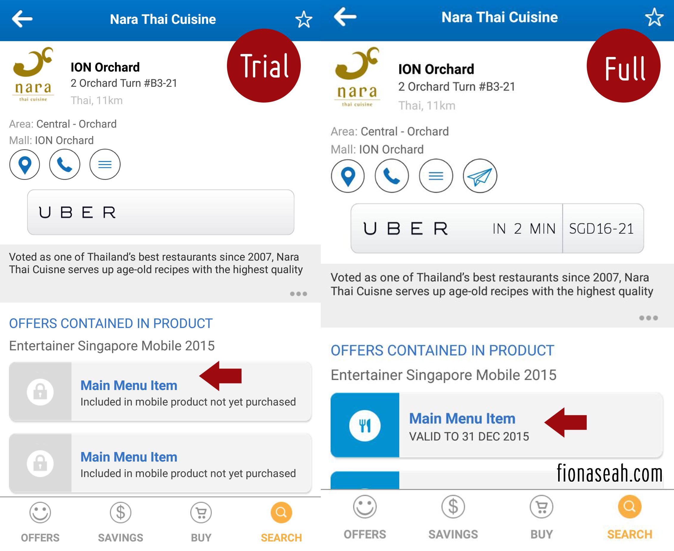 Nara Thai @ ION Orchard + The Entertainer App | fionaseah com