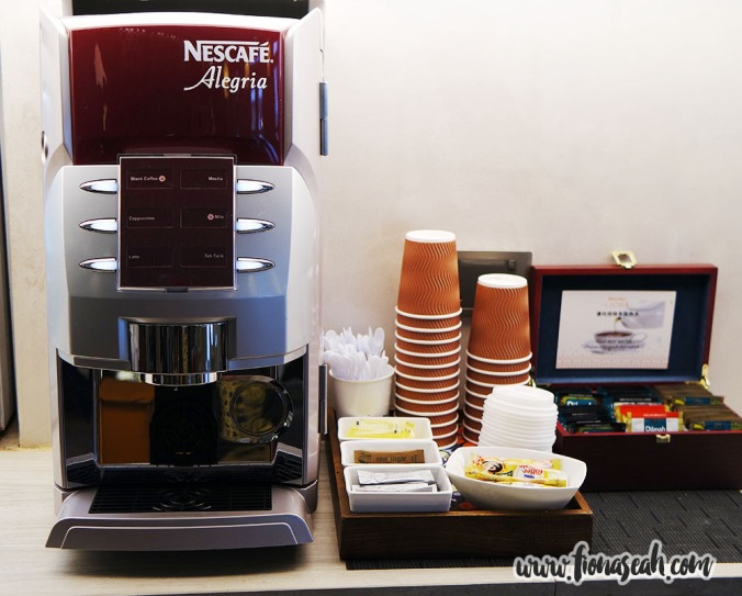 Coffee machine which also serves Milo, Mocha, Cappuccino, Latte and Teh Tarik