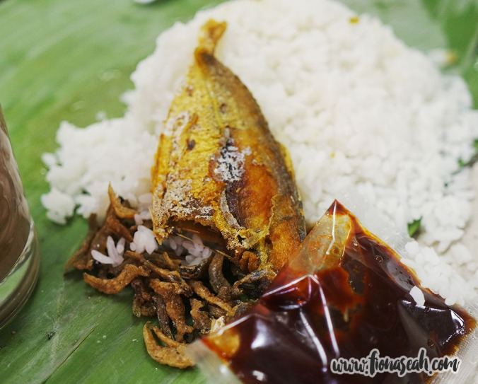 Very fragrant rice and meaty fish
