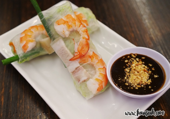 Fresh Summer Rolls with Prawn, Pork Belly & Fresh Herbs