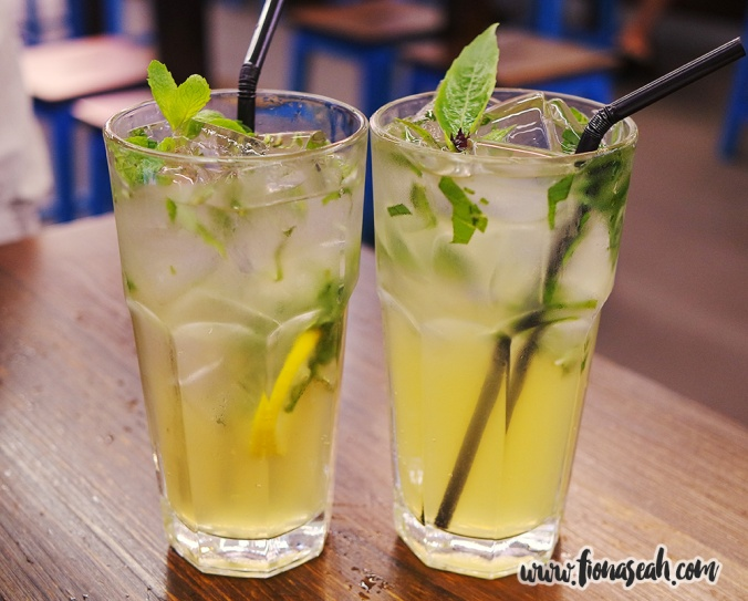Lemon Cooler with Peppermint and Basil and Passionfruit & Basil Mojito