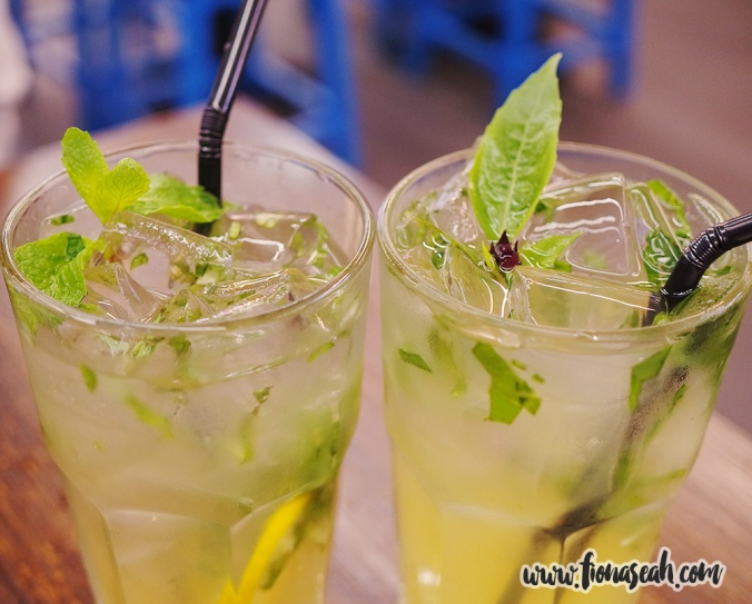 Lemon Cooler with Peppermint & Basil and Passionfruit & Basil Mojito