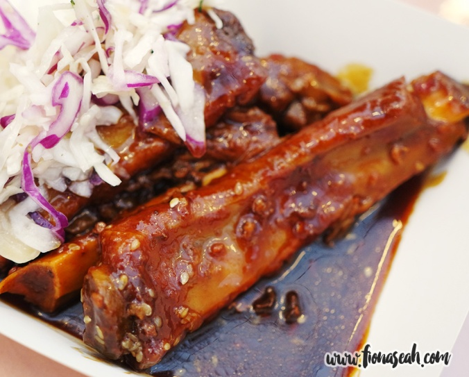 Char Siew Pork Spare Ribs with Steamed Rice (S$8) at Fern & Kiwi Bar & Eatery