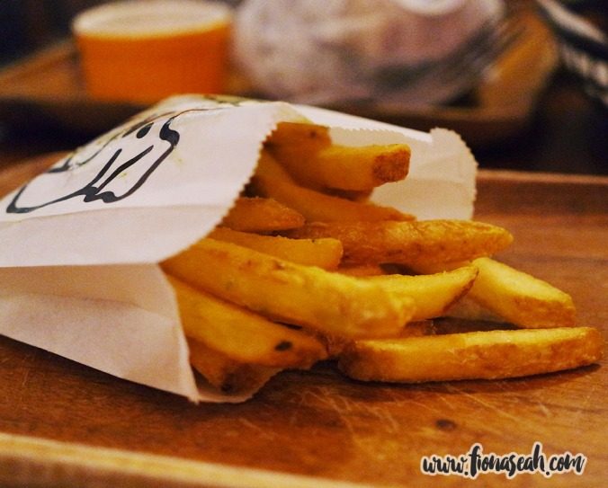"House Fries (S$5++) - ""Double cooked, crushed herb salt"""