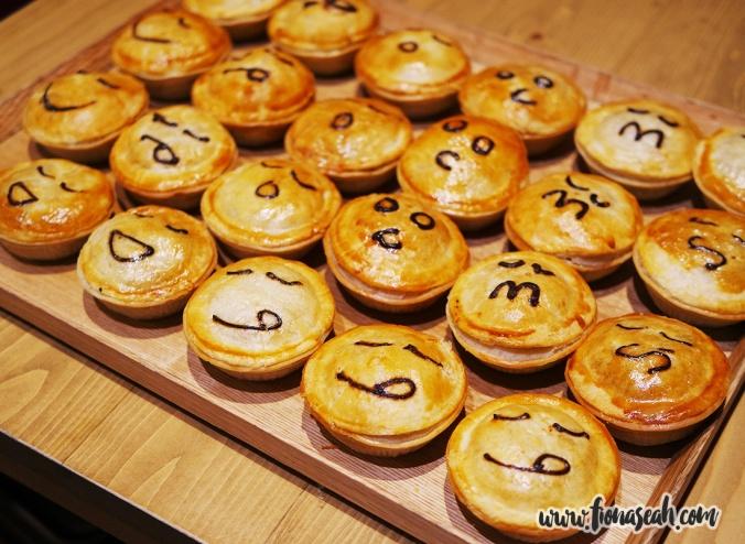 Meet the Pie Faces: Chunky Steak, Chicken + Mushroom, Chicken + Peppercorn, Classic Mince Beef, Thai Green Curry Chicken, Spicy Chicken, Creamy Vegetable, Creamy Mushroom