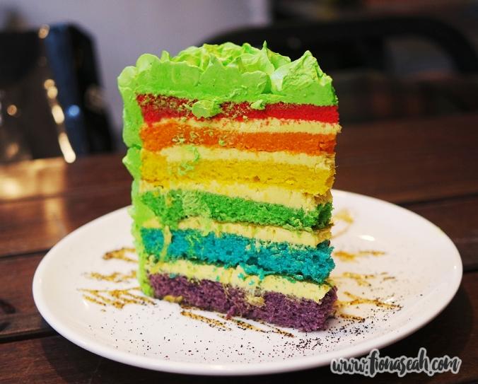 Rainbow Durian Cake (S$8.50 per slice)