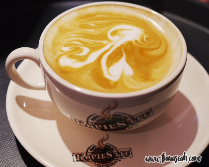 (ruined) Latte art by one of the baristas at KopieSatu Café