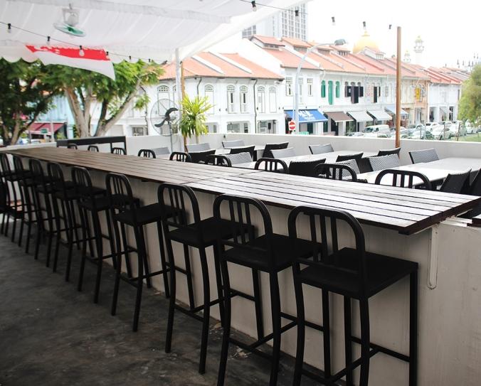 The Verandah (alfresco dining area) in the day